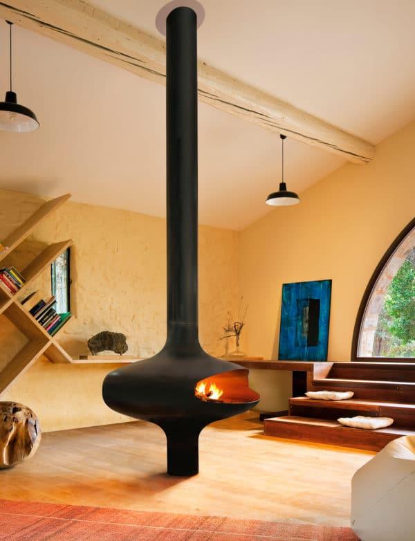 cheminee centrale design magmafocus rvb