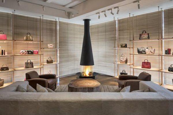 cheminee design filiofocus showroom louis vitton